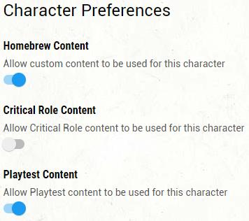 UA Content Toggle