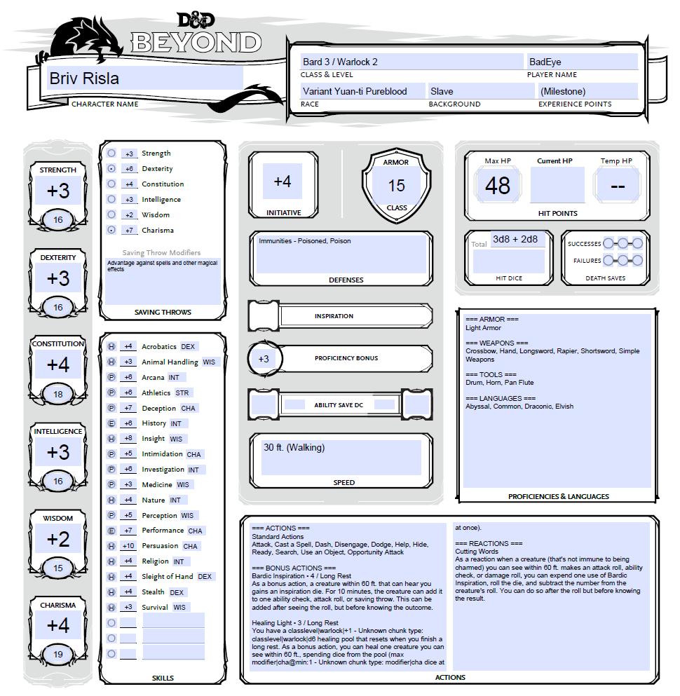 Character Sheet Revamp - Changelog - D&D Beyond