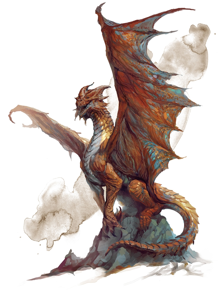 Dnd Copper Dragon: Monsters For Dungeons & Dragons (D&D) Fifth Edition (5e