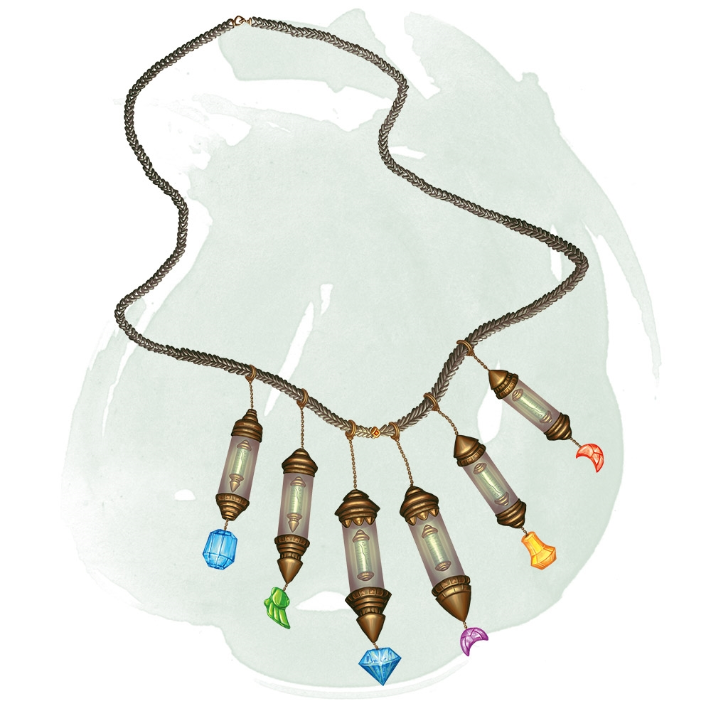 Necklace Of Prayer Beads Magic Items D D Beyond While this pearl is on your person, you can use an action to speak its command word and regain one expended spell slot. necklace of prayer beads magic items