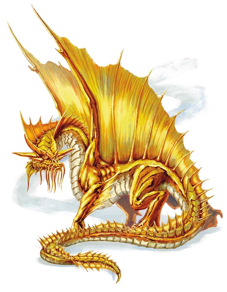 dnd 5e gold dragon wrymling