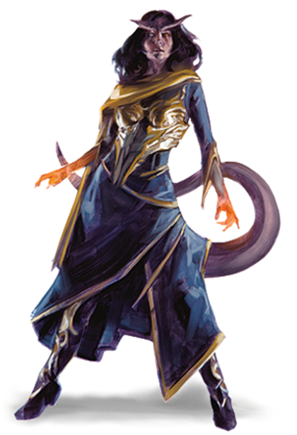 The Tiefling Race for Dungeons & Dragons (D&D) Fifth Edition